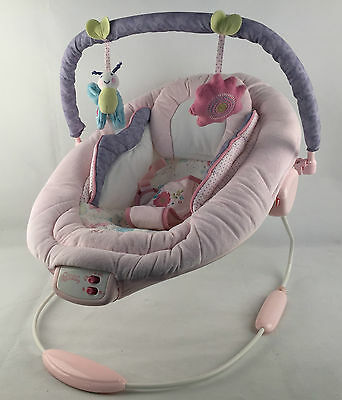 As New Bright Starts Comfort & Harmony Cradling Bouncer - Penelope Petals Swing