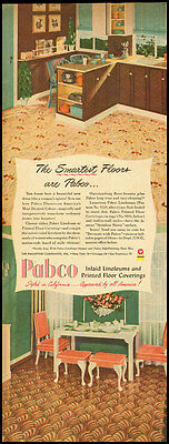 1949 vintage ad for Linoleum Floors by Pabco  -031912