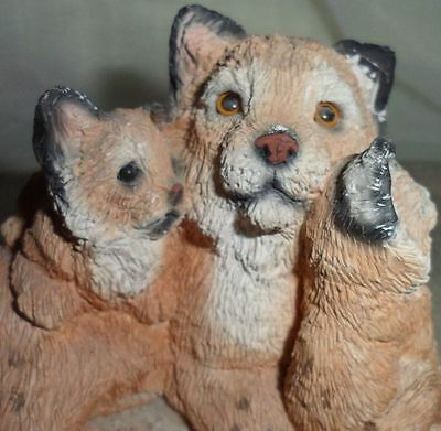 Stone Critters Cat Kitten Animal Figurine Collectible Hand Painted Boome United