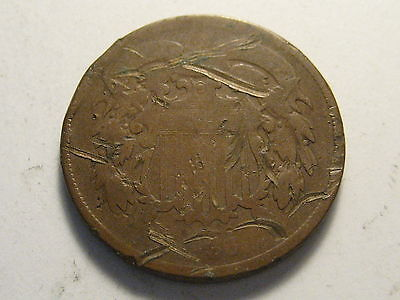 1866 Two Cent Piece Cull