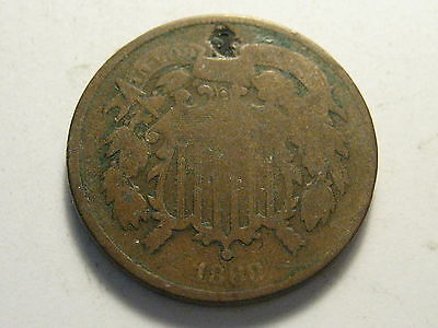 1868 Two Cent Piece Cull