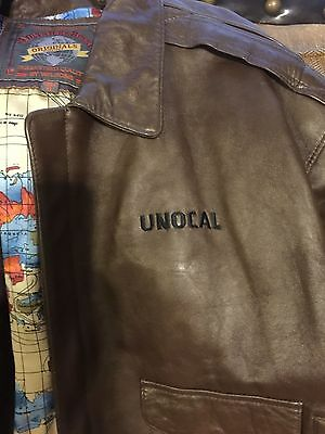 VINTAGE XL Unocal Oil / Wilson leather  Jacket