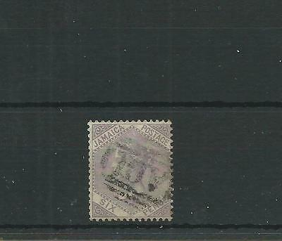 Jamaica 1860-70 6d Dull lilac SG5 fine used, Cat.£22