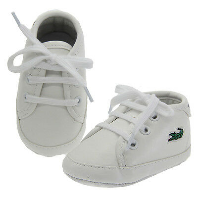 Fashion Newborn Baby Boy Girl White Soft Sole Pram Shoes Trainers 0-18 Months