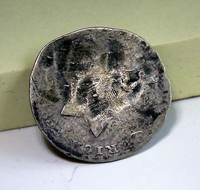 1852 U.s. 3 Three Silver Cent Coin Weak Date Plugged Hole