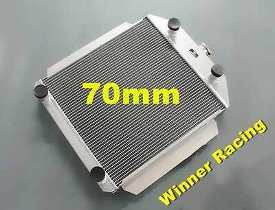 70mm aluminum radiator fit for Ford car W/flathead V8 engine M/T 1949-1953 50 51