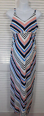 old navy maternity L Large maxi summer casual dress adjustable strapes
