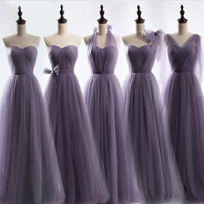 Long Chiffon Lace Bridesmaid Dresses Formal Party Evening Ball Gown Prom Dress