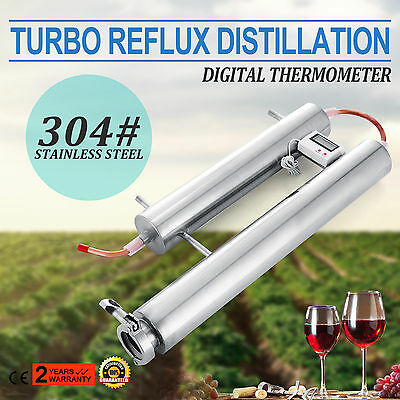 Stainless Steel Condenser Distillation System Reflux Alcohol Making Digital