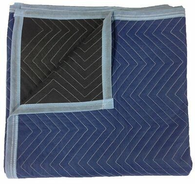 "Pro Moving Blankets 12-Pack - Size: 72"" x 80"" - Color: Blue & Black - by Cheap"