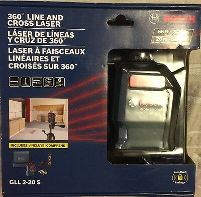Bosch 360 Line and Cross Laser GLL 2-20S New