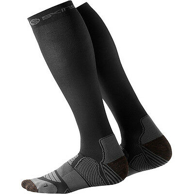 Skins NEW Mx Active Sports Running Adult Moto Black Pewter Compression Socks