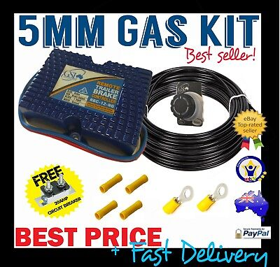 Electric Brake Controller Gsl Remote Mount + 5Mm Gas Wire Kit - Caravan Trailer
