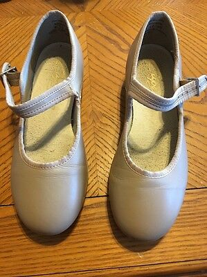 Girls Tap Shoes Beige Size 4 1/2