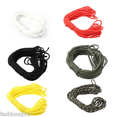 10M 7 Strand Parachute Cord String Tent Tying Rope Outdoor Travel Kit Equipment