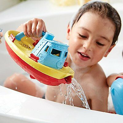 Green Toys Toy Tug Boat Bath Tub Bathtub Baby Kid Children Playing Relax Fun