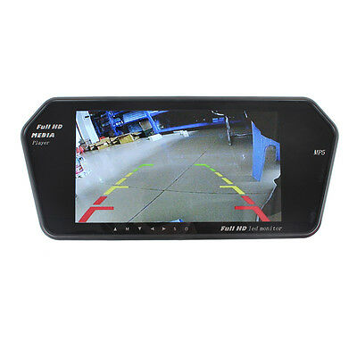 "7"" LCD Screen Car auto Rear View Mirror Monitor Reversing Camera Rearview MP5"