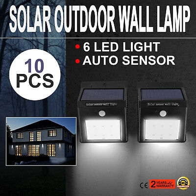 Solar Power LED Sensor Light Outdoor Garden Lawn Path Fence Waterproof Wall Lamp
