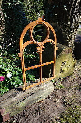 Iron Window, Barn window Stained-glass Round arch, for Garden wall