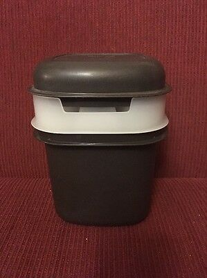 Retro Tupperware Ice Container With Ice Tray Brown