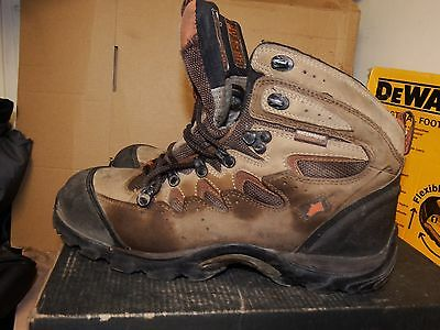 94cd76f7b1d HYENA EIGER BROWN Leather Hiker Breathable Steel Toe Safety Boots UK 8 -  AA478