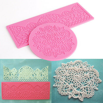3D DIY Icing Silicone Mold Mould Lace Shaped Baking Cake Fondant Decoration Tool