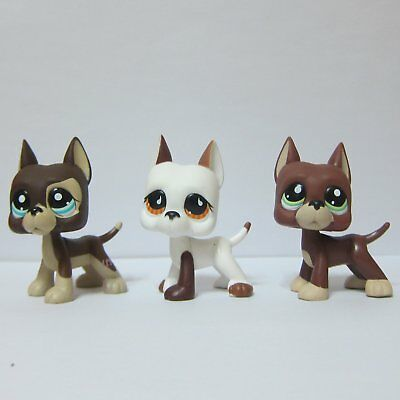lot3 Littlest Pet Shop Collection LPS Toys Great Dane Puppy Dog #817 #750 #1519
