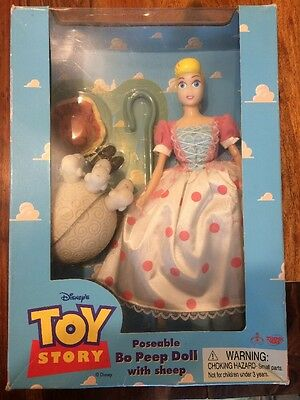 Disneys Toy Story Poseable Bo Peep Doll With Sheep  Rare Thinkway New Boxed  OOP