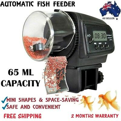 New Automatic Fish Food Feeder LCD Auto Timer Pet Aquarium Tank Pond Holiday