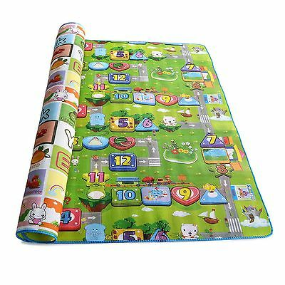 New Kids 2 Side Crawling Educational Game Play Mat Soft Foam Picnic Carpet Uk
