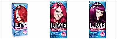 NEW Schwarzkopf  LIVE Semi-Permanent Colour Ultra Brights or Pastel - Vibrant