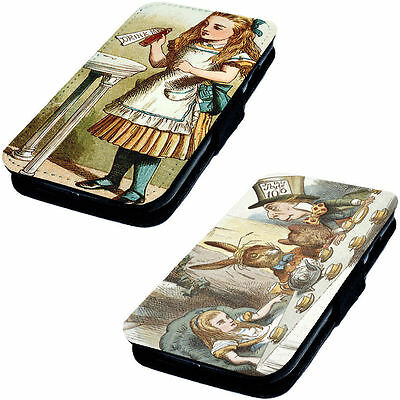 Alice Illustration Designs Printed Faux Leather Flip Phone Cover Case Vorpal #2