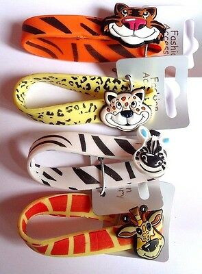 Childrens Jungle Animal Safari Gummy Wristband - 4 Designs Party Bag Fillers