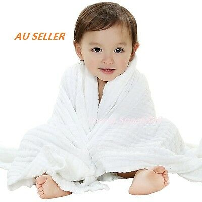 Newborn Cotton Baby Infant Soft Gauze Bath Towels 6 Layer Swaddle Wrap Blankets