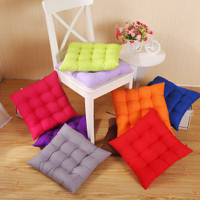 Soft Cushions Seat Pads Indoor Dining Room Garden Kitchen Office Tie On Chair