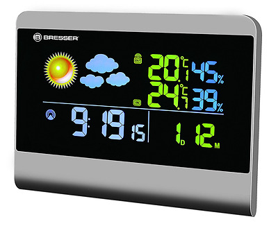Bresser Weather Station TemeoTrend Colour with true black LCD screen with outdoo