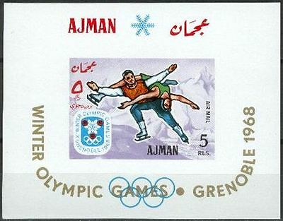 Ajman 1967 ** Bl.18 Olympische Winter Spiele Olympic Games