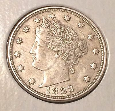 "1883 NO / CENTS' Liberty ""V"" Nickel   ^^ VERY FINE ^^  134 YRS OLD   3497"