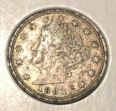 "1883 NO / CENTS' Liberty ""V"" Nickel   ^^ VERY FINE ^^  134 YRS OLD   3496"