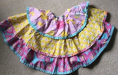 Jelly The Pug, Tiered Easter Skirt, Sz 8
