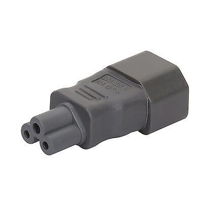 Gray Color IEC 320 C14 to C5,IEC 3Pin Male to Micky Mouse 3Pin Female AC adapter