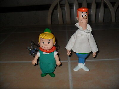 Vintage 1990 Applause The Jetsons George & Elroy Vinyl Action Figures Dolls