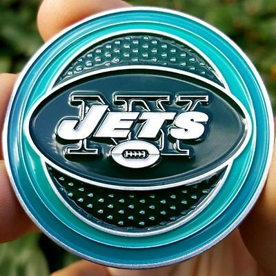 PREMIUM NFL New York Jets Poker Card Protector Golf Marker Collector Coin NEW