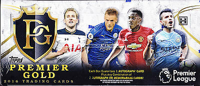 2016 Topps Premier Gold Soccer Football Factory Sealed Hobby Box New Epl Express