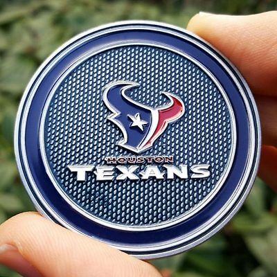 PREMIUM NFL Houston Texans Poker Card Protector Golf Marker Collector Coin NEW