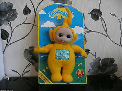 Bn***1996 Teletubbies Laa Laa Open & Close Eyes Plush Doll***new Dipsy Tinky Po