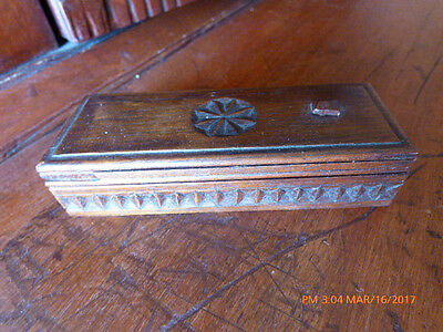 Antique Chip Carved Puzzle Box Finely Made C.1875