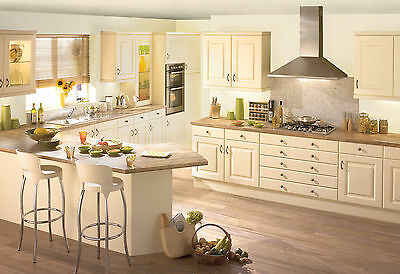 New Complete Kitchen Package Not Ex-Display :turin Cream Shaker Doors & Units