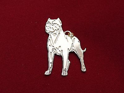 Pitbull Charm Necklace / Dog Collar / ID Tag / Pet Tag