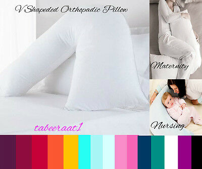 V Shaped Pillow & Cover Orthopaedic Maternity Pregnancy Nursing Baby Support